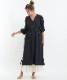 ベルガモットシャーリングドレス ブラック
