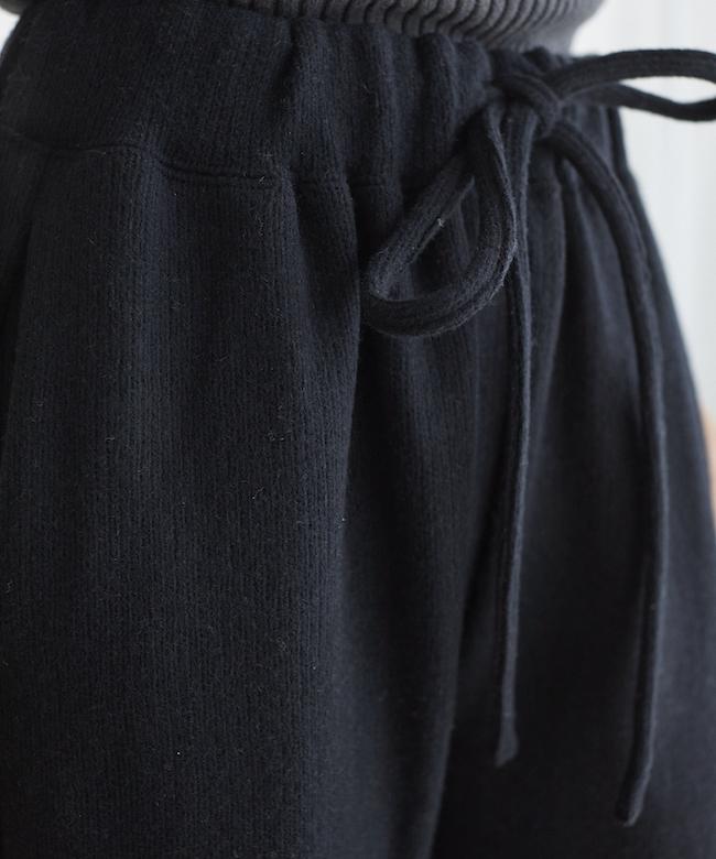 ウールパンツ ブラック