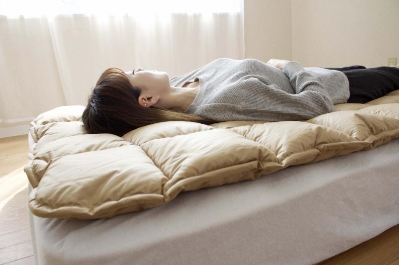 【眠10】英国羊毛100% 敷パッドS 【飛鳥】100×200cm 中綿ウール100%2.0kg 日本製 木村綿業
