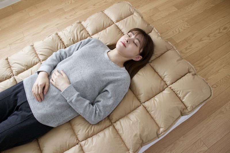 【眠10】英国羊毛100% 敷パッドD 【飛鳥】140×200cm 中綿ウール100%3.0kg 日本製 木村綿業