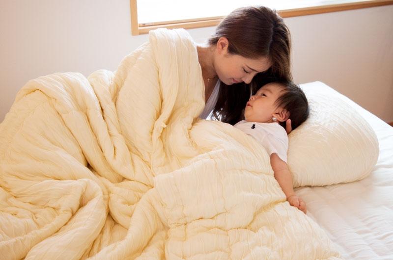 【眠10】マシュマロフトンSL 【ミルクティーベージュ】 150×210cm 中綿テンセル100%0.7kg 日本製 木村綿業