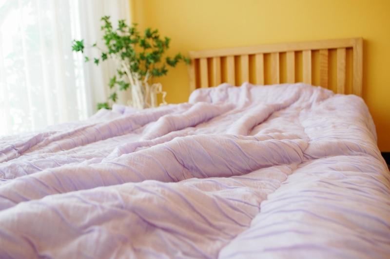【眠10】マシュマロフトンSL 【パステルラヴェンダー】 150×210cm 中綿テンセル100%0.7kg 日本製 木村綿業