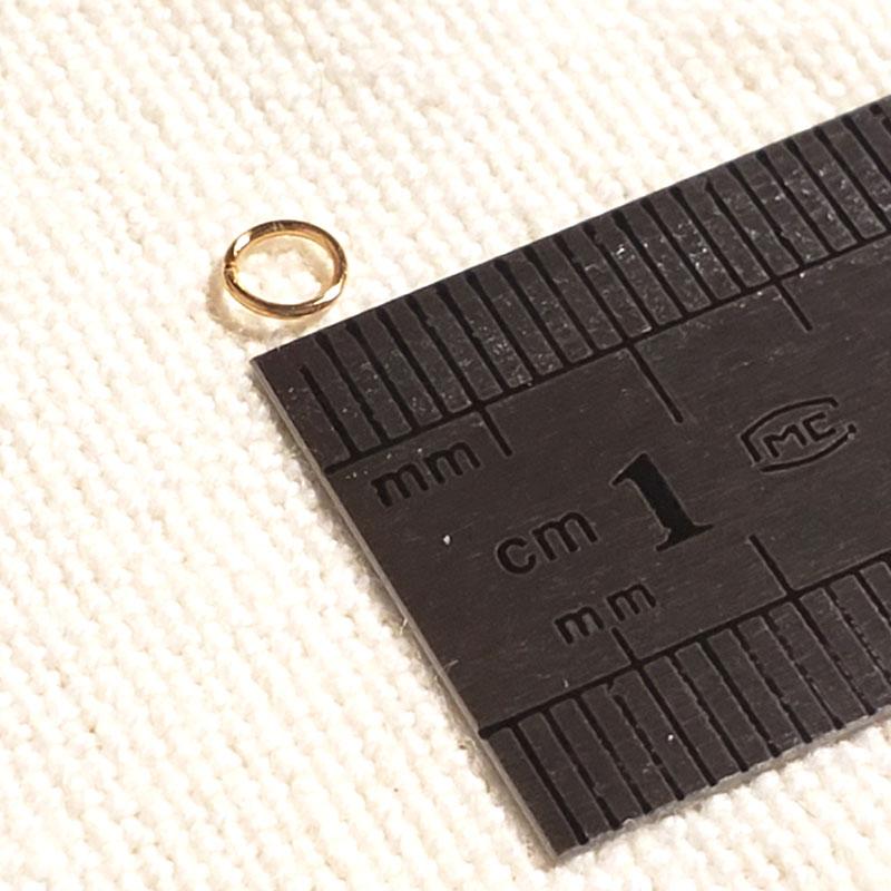 高品質 ステンレス 丸カン 4mm 100個 ◇ ゴールド アレルギー対応 A000341