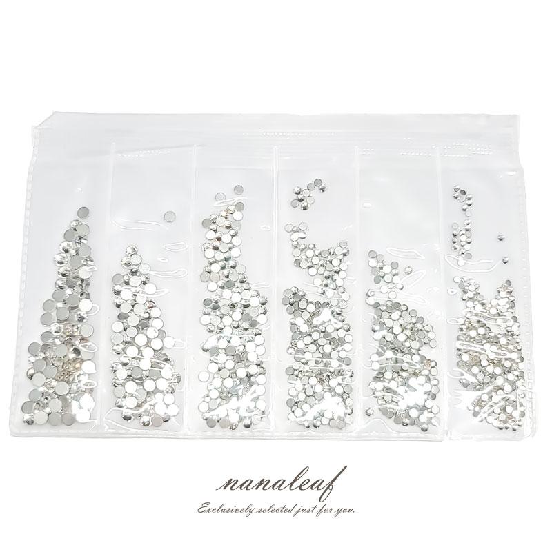 ラインストーン セット 1袋 ◇ クリスタル ガラス 1.5〜3mm ネイル パーツ A000463