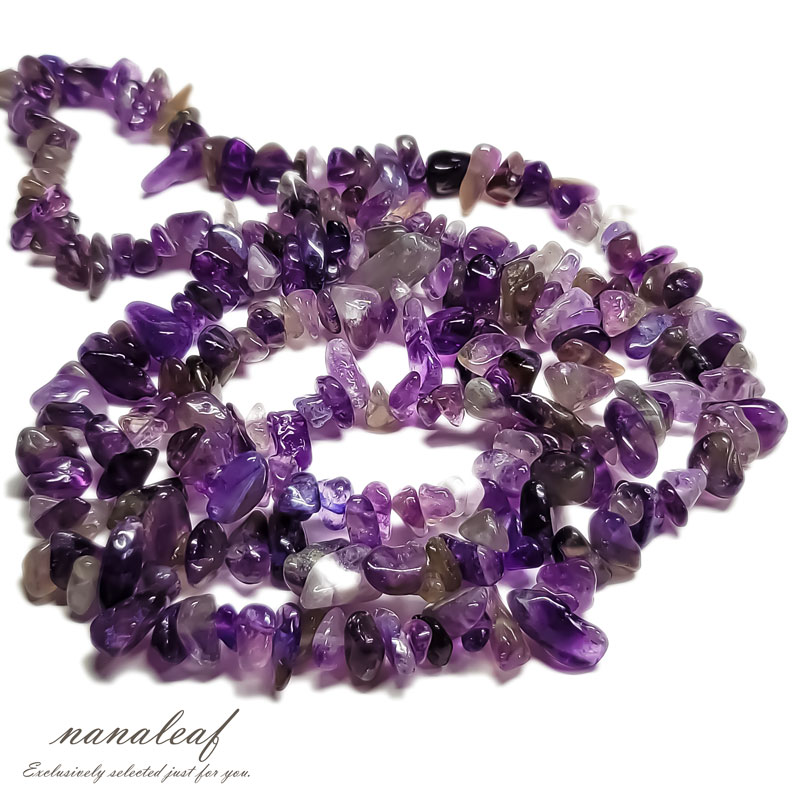 【15g】天然石 アメジスト さざれ石 5-8mm ◇ 紫水晶 水晶 ビーズ BST00071B