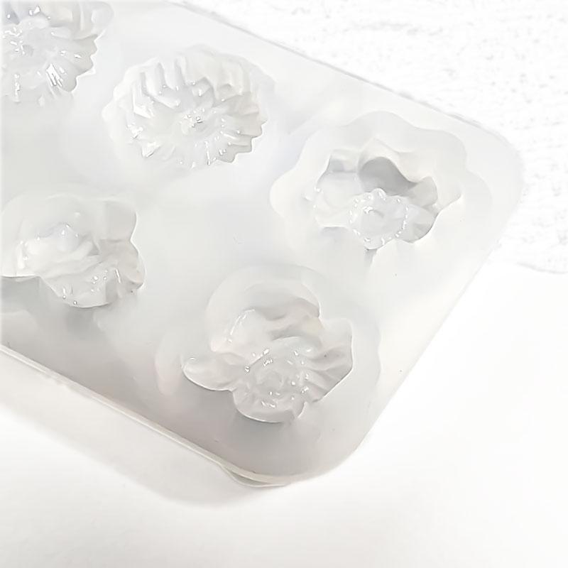 お花のシリコンモールド 6種 ◇ フラワーレジン型 エポキシ樹脂 M000004