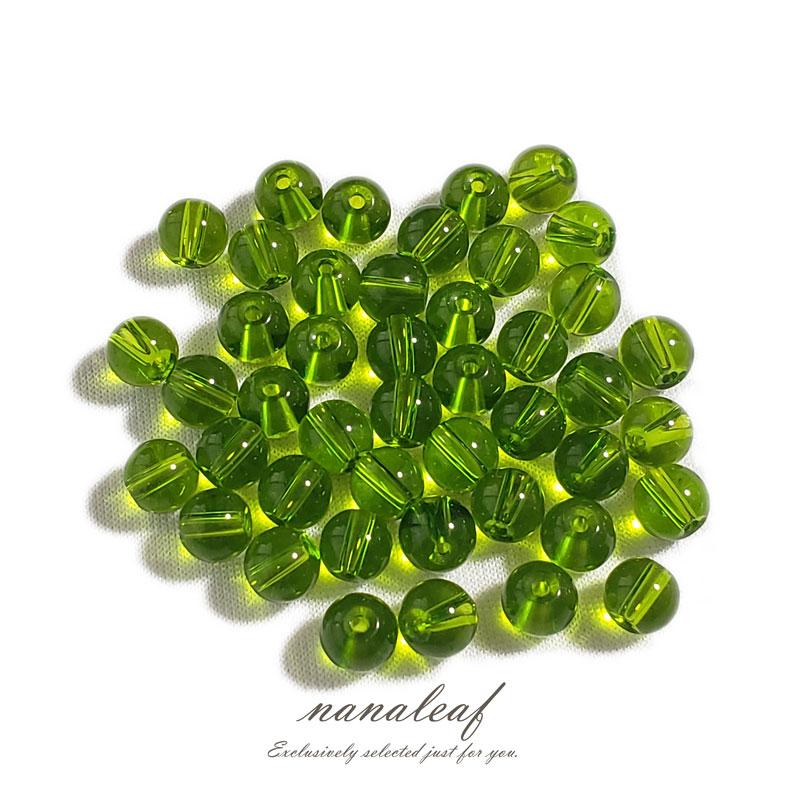 ガラスビーズ 若草色 6mm ◇ 透明 ビーズ 黄緑 グリーン BGL0001-GN6