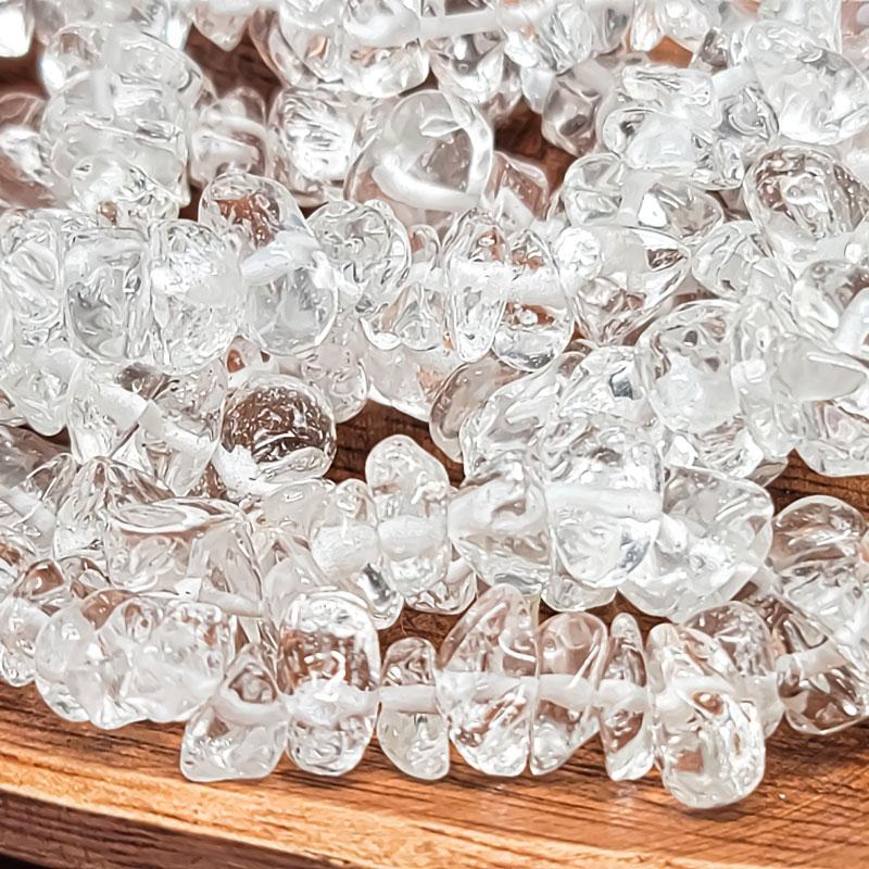 【15g】ガラス さざれ石 チップ 5-8mm ◇ クリスタル ビーズ 透明 BGL00CL1B