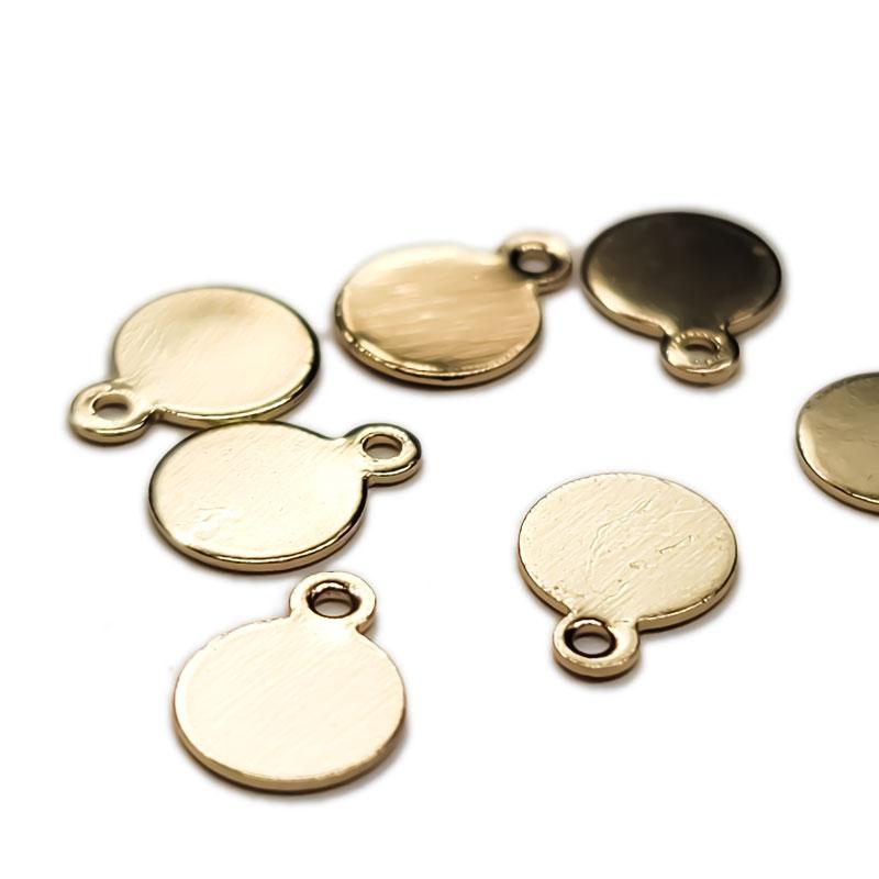 丸平皿 6mm 30枚 ◇ ゴールド プレート ディスク ニッケル・鉛・カドミウムフリー アレルギー対応 KPL06GL1