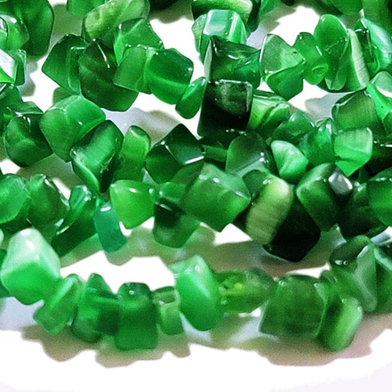 シェル ビーズ 5-8mm さざれ石 チップ ◇ グリーン 透明感 50-60粒 BSH00011