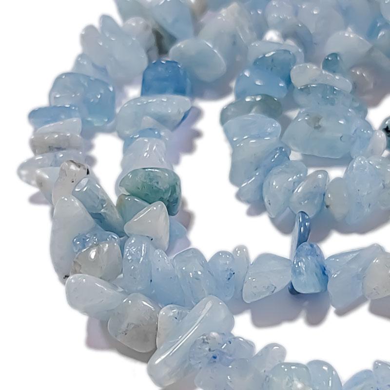 【15g】天然石 アクアマリン さざれ石 5-8mm ◇ ライトブルー 水色 BST00069B