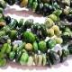 珊瑚 ビーズ 5-8mm さざれ石 チップ ◇ ダークグリーン コーラル 40-50粒 BSH00038