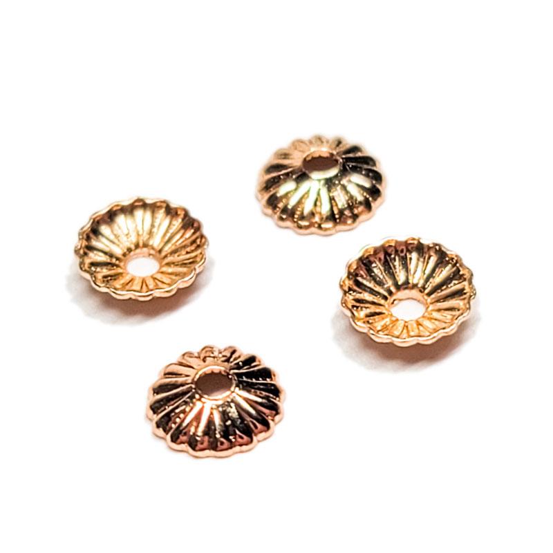 ミニ ビーズキャップ 花座 4mm 20個 ◇ 花 フラワー 小さい 高品質 ゴールド KBC04GL2