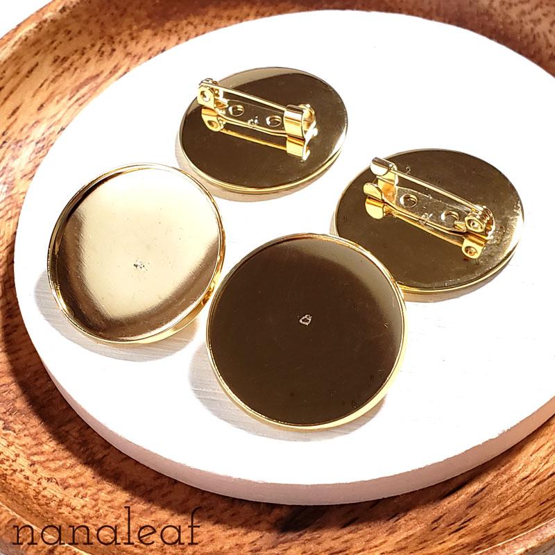 高品質 ステンレス ブローチパーツ 2個 ◇ ミール皿 ゴールド A000333