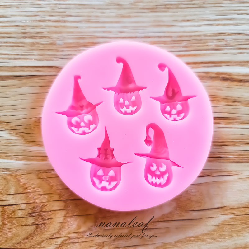 レジン 型 ハロウィン かぼちゃ おばけ ◇ シリコン モールド ジャック ランタン M000037