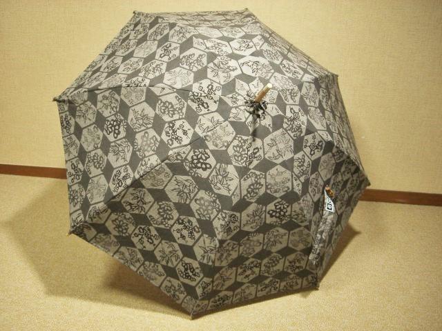 紬(つむぎ)日傘 1