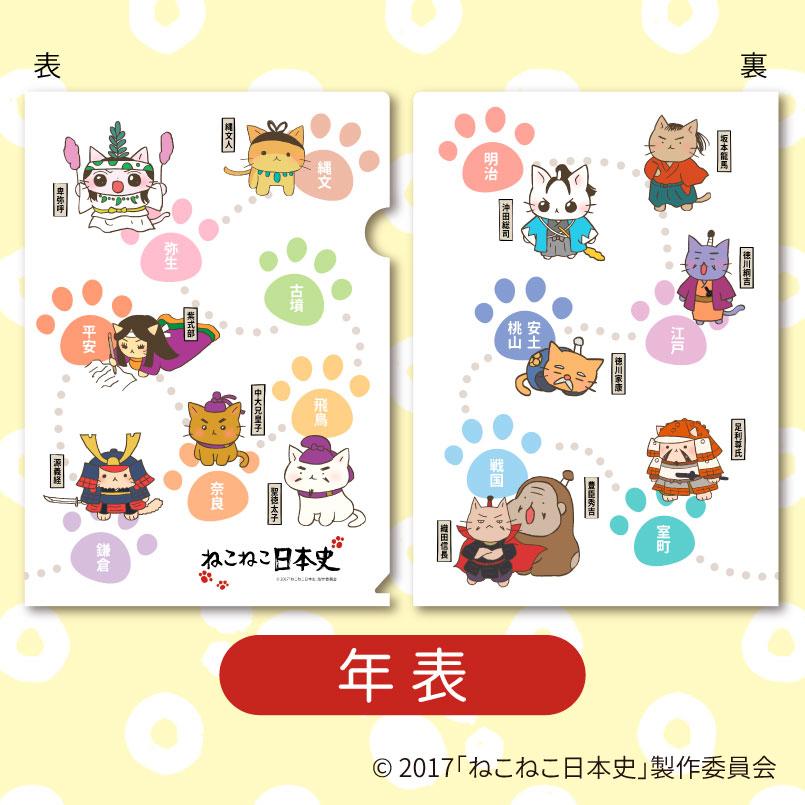【ねこねこ日本史】クリアファイル(全3種)