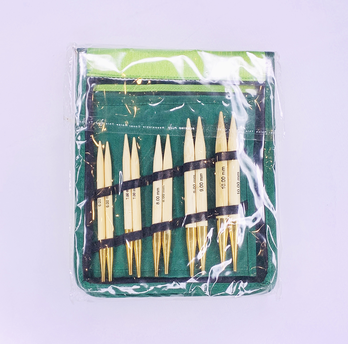 【Bamboo】☆付け替え可能輪針 チャンキー(太編み)セット【海外サイズ】
