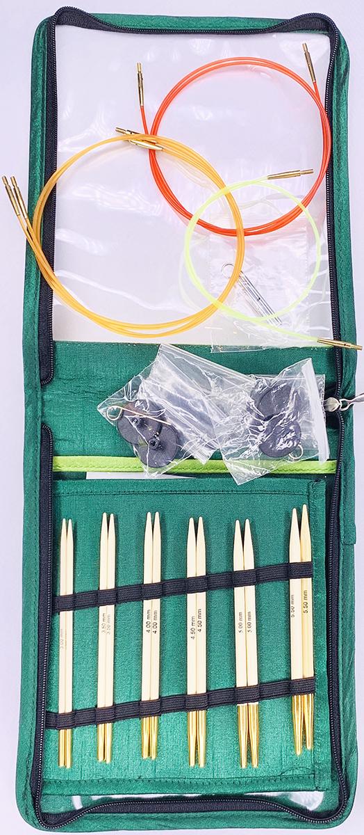 【Bamboo】(送料無料)☆付け替え可能輪針 デラックスセット