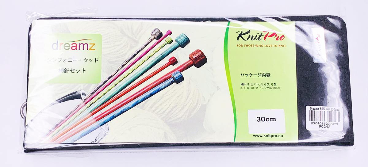 【Dreamz】(送料無料)日本限定! 30cm玉付2本棒針 8組デラックスセット ニットプロ/ドリームズ