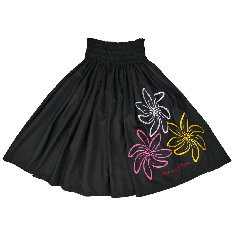パウスカート 刺繍 ティアレ ブラック [SK-871A]