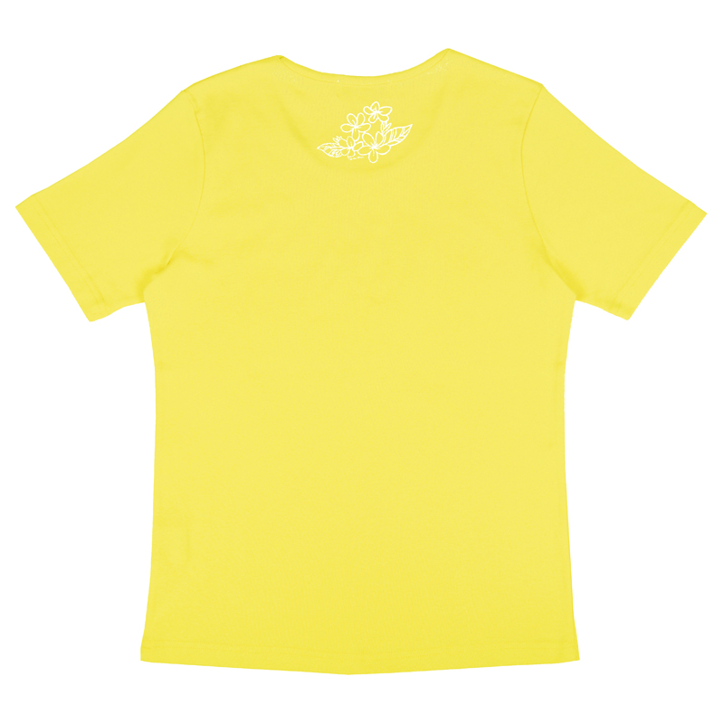 半袖Tシャツ プルメリア ラメ イエロー [TS-1056]