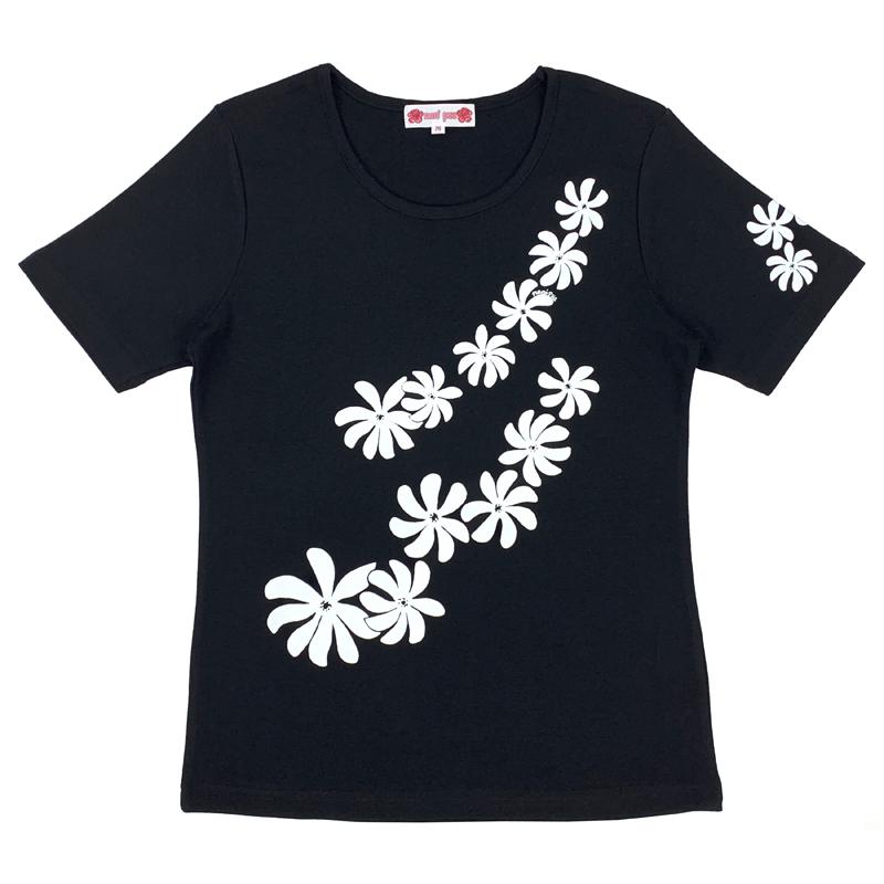 半袖Tシャツ ティアレ ブラック [TS-1082]