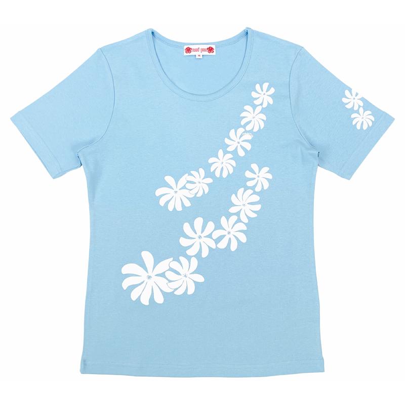 半袖Tシャツ ティアレ サックス [TS-1084]