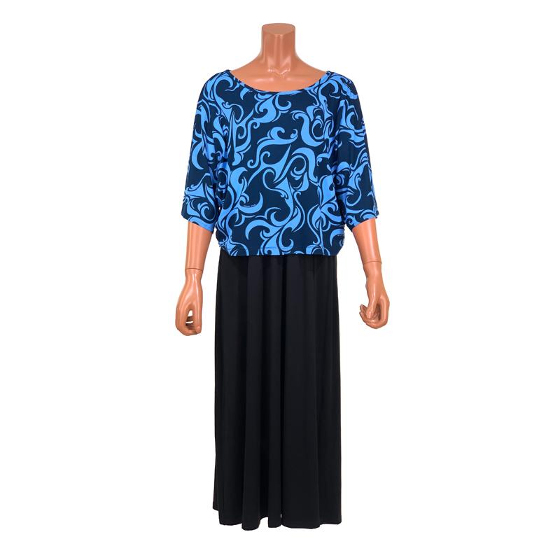 ドルマンスリーブTシャツ トライバル ブルー [DT-112]