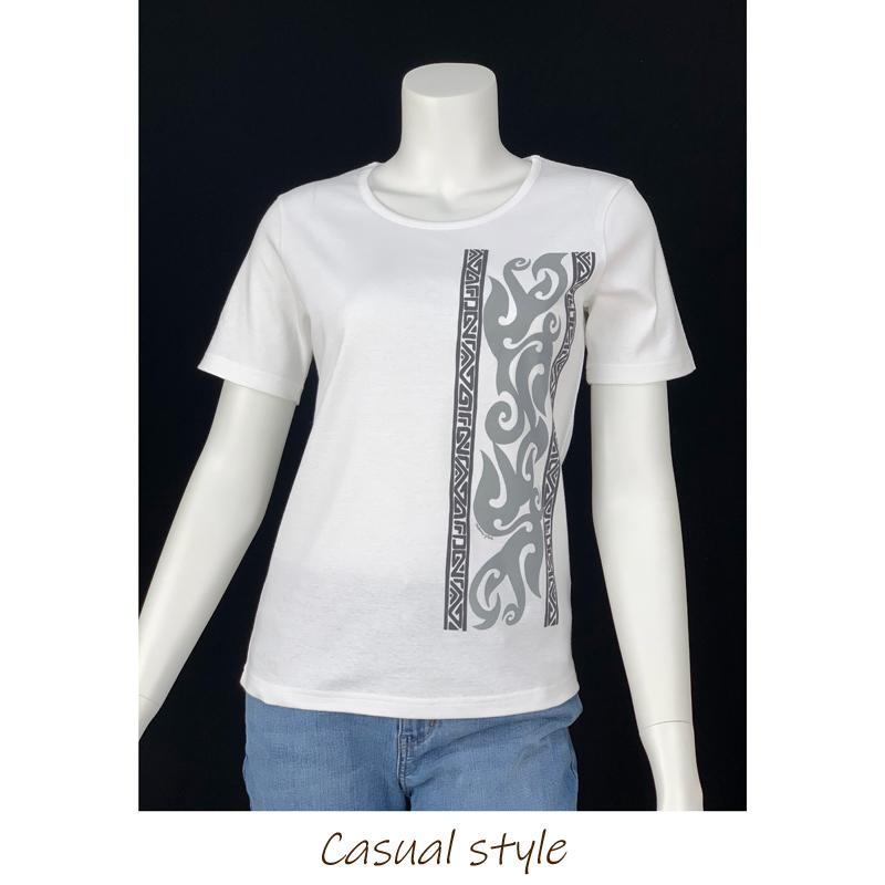 半袖Tシャツ トライバル ホワイト [TS-1121]