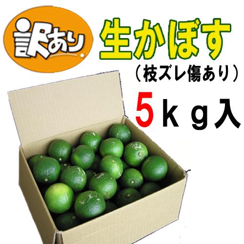 【送料込み】訳あり 朝摘み生かぼす青果5kg