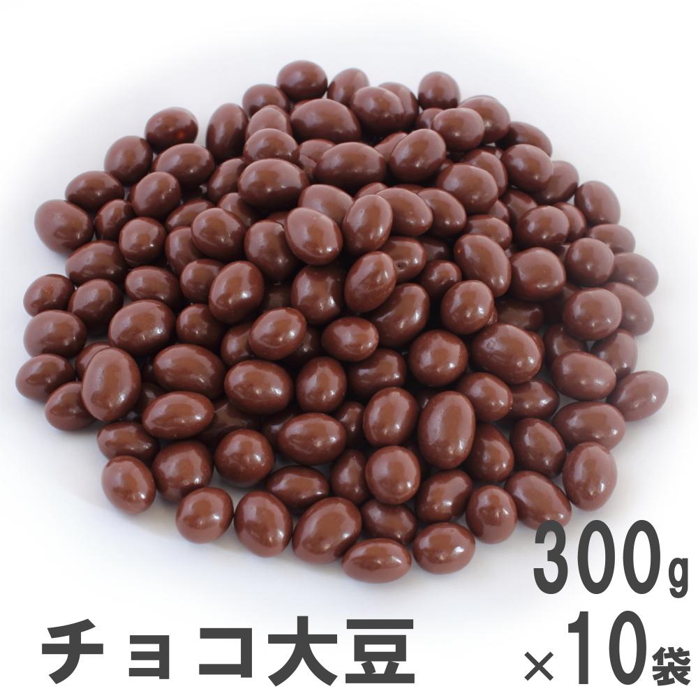 チョコ大豆300g×10 南風堂 ケース販売 九州産大豆フクユタカのローストにミルクチョコレートをコーティング