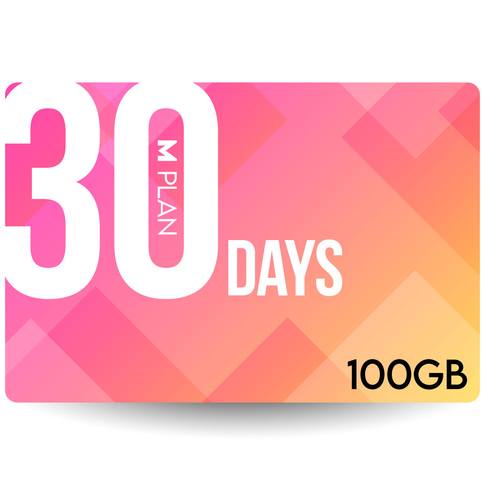 CALENDAR SIMカード 30日100GBプラン[Mプラン] 期間内使い切りプラン
