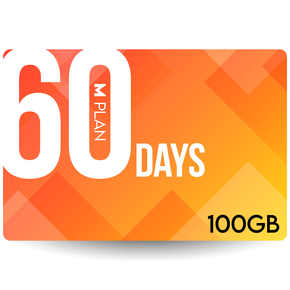 CALENDAR SIMカード 60日100GBプラン[Mプラン] 期間内使い切りプラン