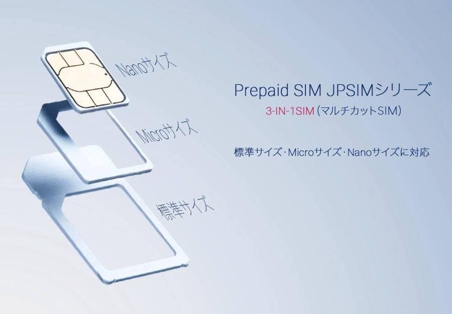プリペイドSIMカード JPSIM SB+ 10GB/指定期限使い切りプラン(nano/micro/標準SIMマルチ対応) SIMピン付
