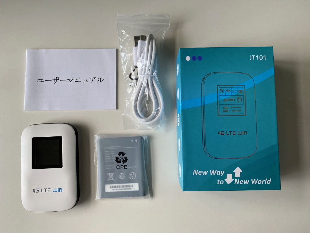 WIFIモバイルルーター JT101 4G LTE SIMフリー