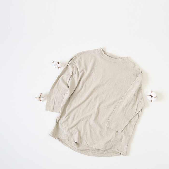 NARU(ナル) ムラ糸リサイクル天竺タックプルオーバー 636040