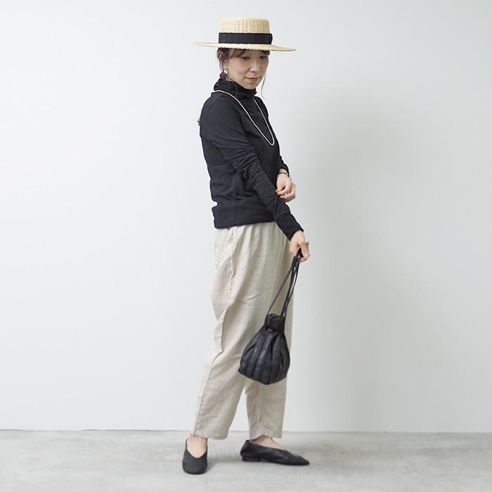 新色入荷!NARU(ナル) 65130 ムラ糸リサイクル天竺ひねりタートルネック