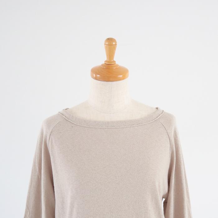 新色入荷!NARU(ナル) 612000 ムラ糸リサイクル天竺7分袖Tシャツ