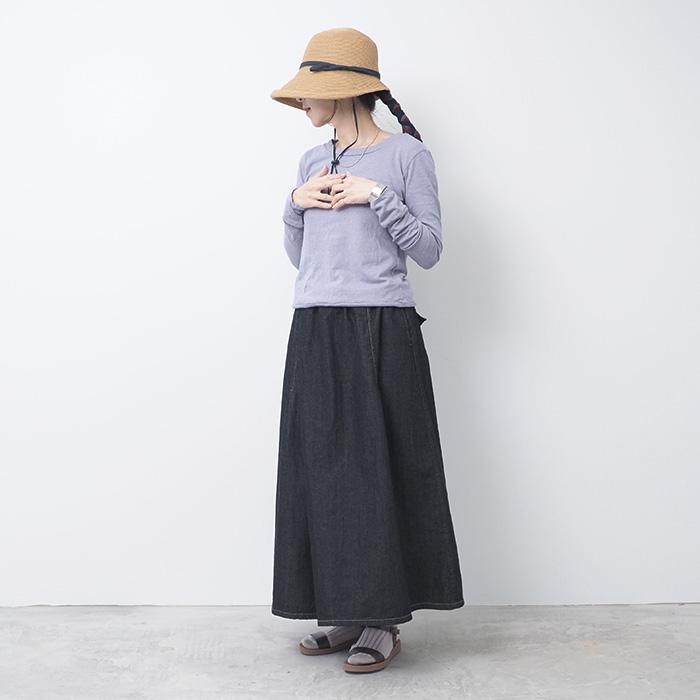 NARU(ナル) ムラ糸リサイクル天竺ひねり長袖プルオーバー