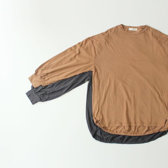 NARU(ナル) 30/1インド綿天竺ボリュームスリーブプルオーバー 638001