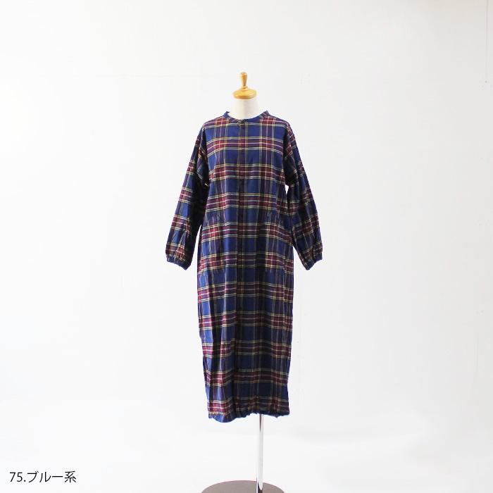 NARU(ナル) フランネルチェックシャツワンピ 6wo-001