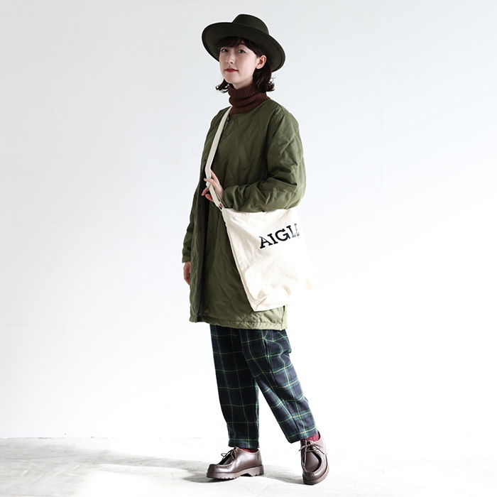 NARU(ナル) 1/10ツイードチェックパンツ 639815