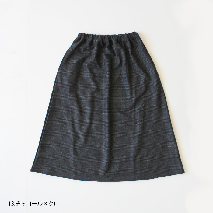 NARU FACTORY公式オンラインショップ限定アイテム<br>大人スカート ウォッシャブルグレンチェック 6wo-005