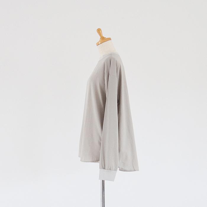NARU(ナル) ふんわりローン袖口リブ切替プルオーバー
