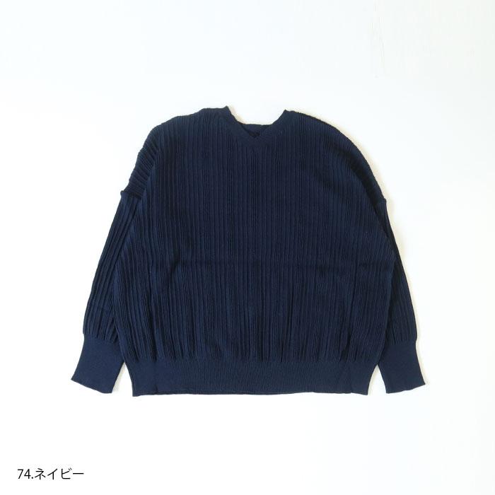 新色入荷!NARU(ナル) ランダムリブ ワイドプルオーバー 630700