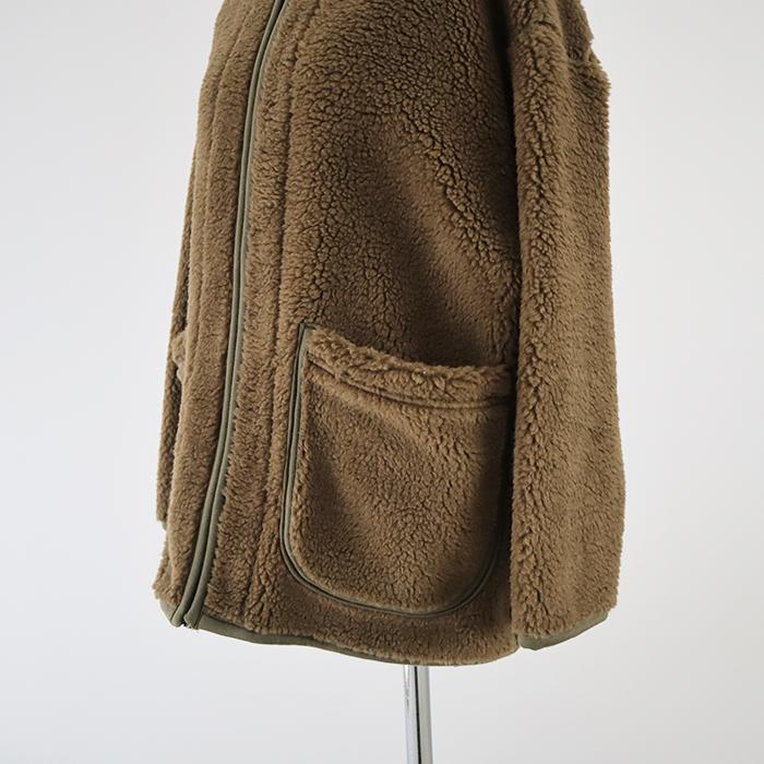 予約受付中!11月上旬納期 NARU(ナル) ボアフリース「もこもこジャケット」 643836