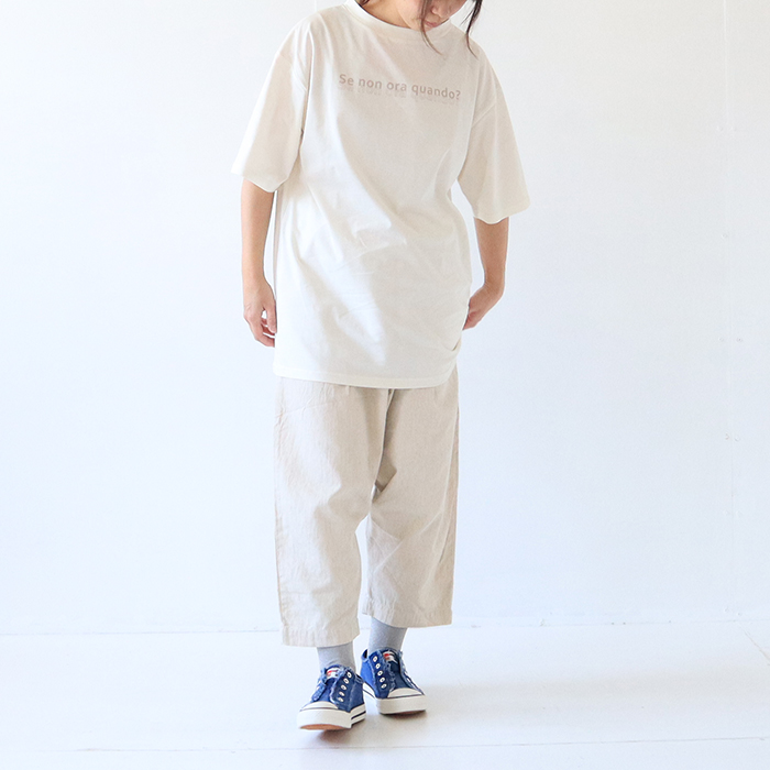 "NARU(ナル)  プリントT ""quando(クアンド)"" 641231"