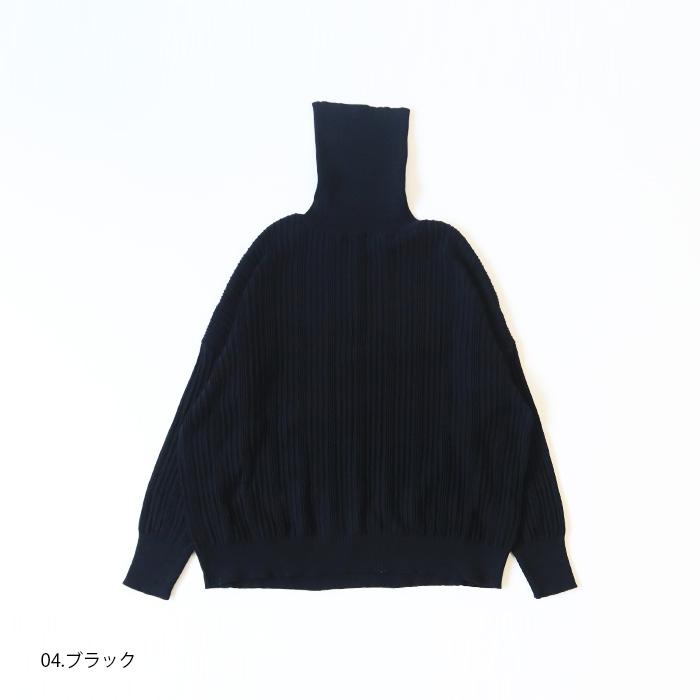 NARU(ナル) 綿コーマ ランダムリブ14G 太ピッチロングタートル 639710