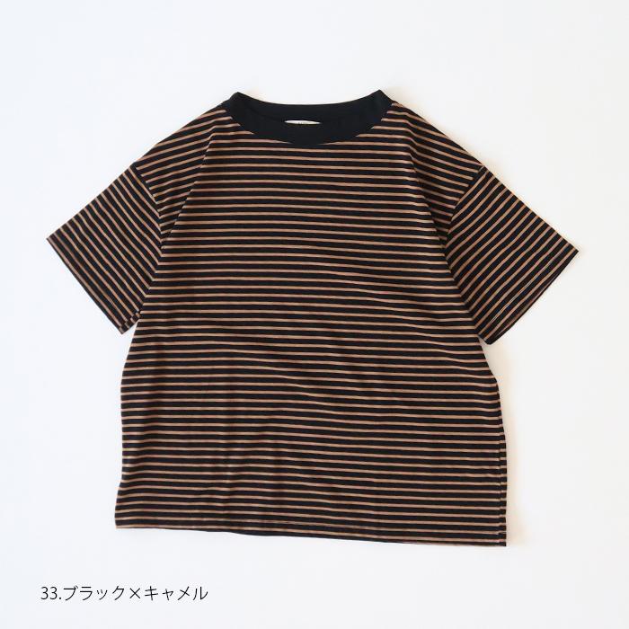 """NARU(ナル) ボーダー半袖T""""MonsieurPudding(ムッシュプリン)"""" 641221"""